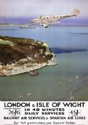 London & Isle of Wight. Vintage SR Travel Poster by Charles Pears. 1935